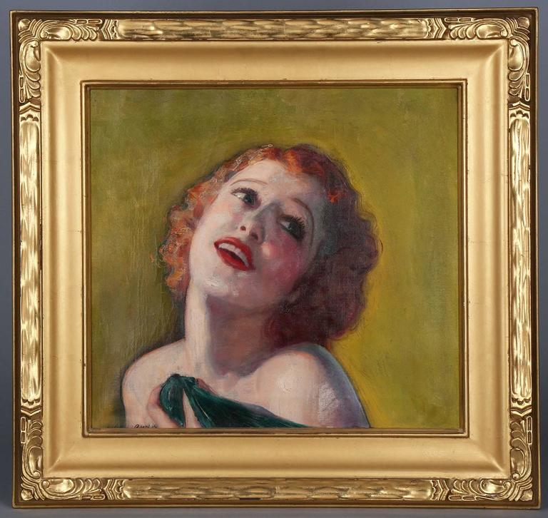 McClelland Barclay Portrait Painting - Jeanette MacDonald