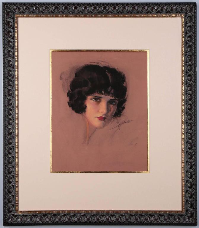 Rolf Armstrong Portrait Painting - Portrait of Evelyn Brent