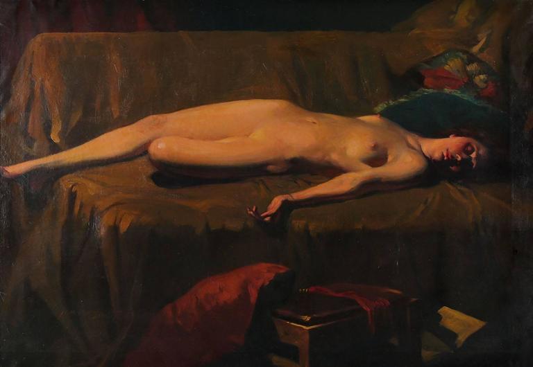 Hawaiian Art Deco Nude - Painting by Harold Mott-Smith