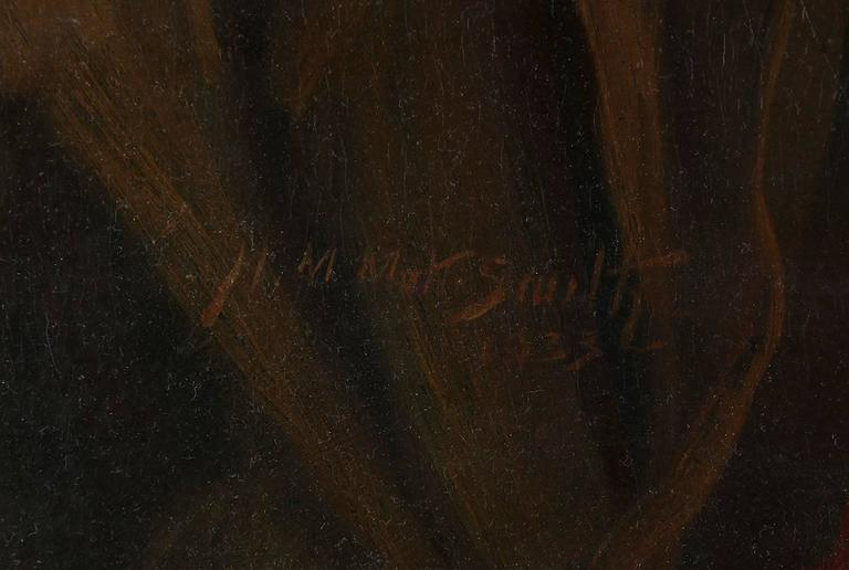Hawaiian Art Deco Nude - Black Nude Painting by Harold Mott-Smith