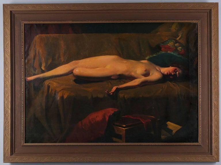 Harold Mott-Smith Nude Painting - Hawaiian Art Deco Nude