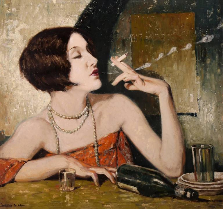 Lejaren Hiller Portrait Painting - Absinthe