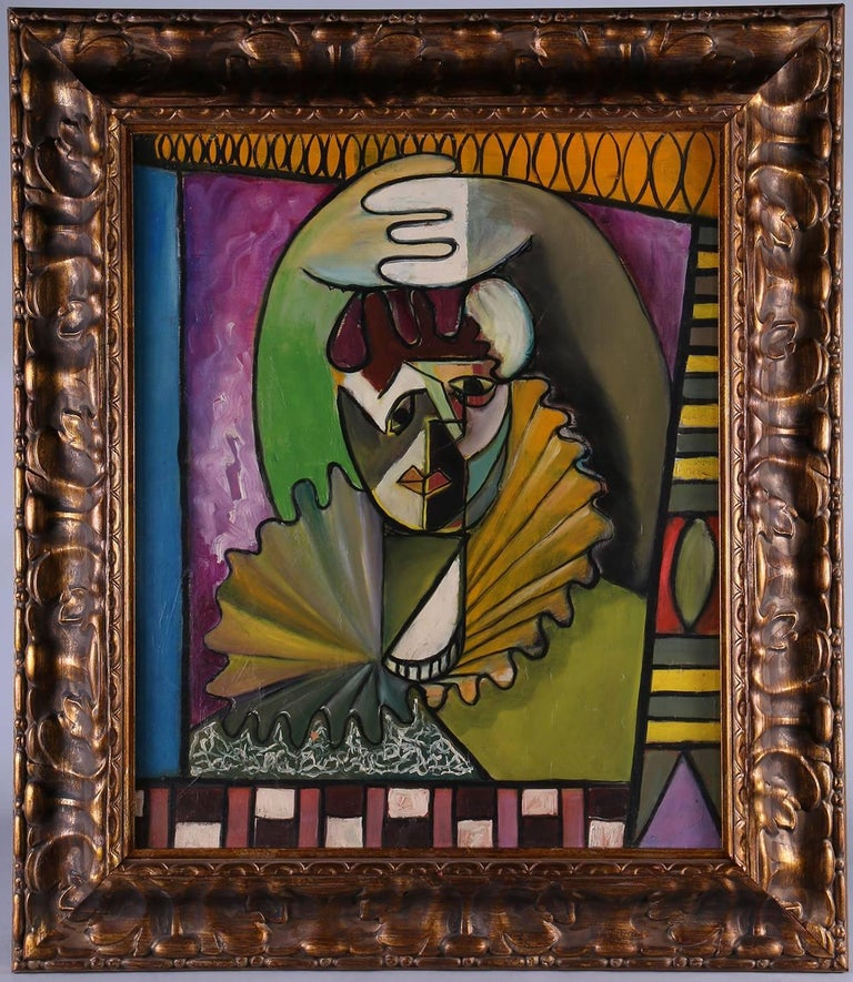 Charles Luedtke Abstract Painting - Abstracted Clown