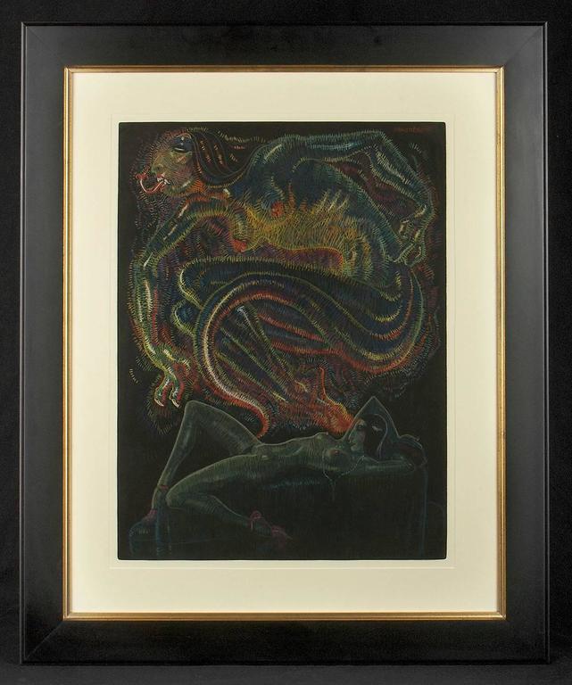 The Conjurer - Art Deco Painting by Mahlon Blaine
