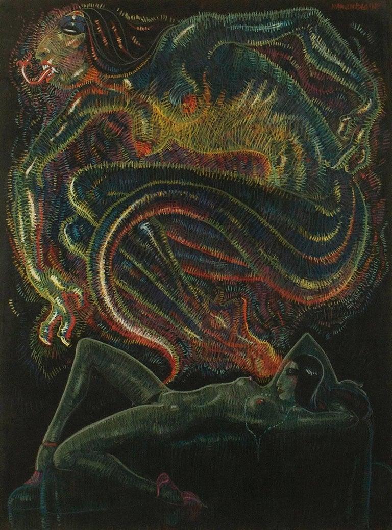 Mahlon Blaine Nude Painting - The Conjurer