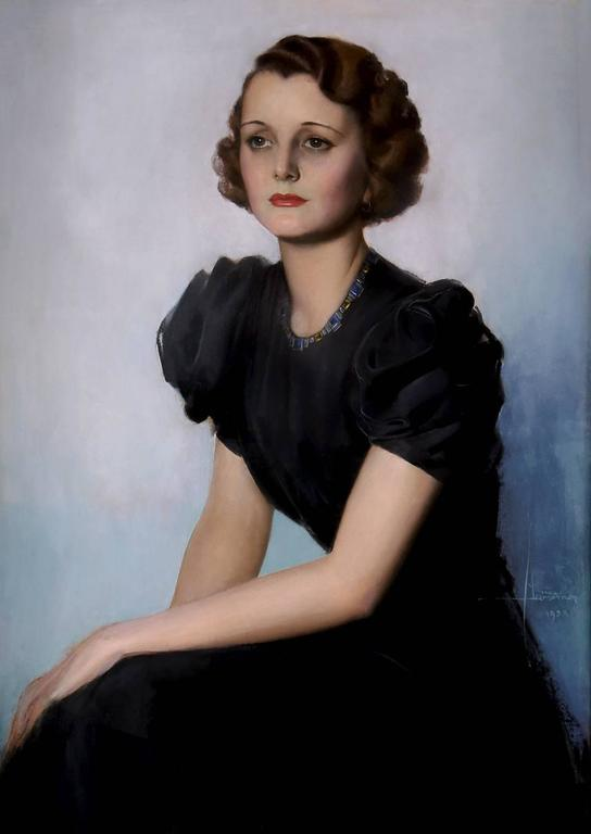 Rolf Armstrong Portrait Painting - Mary Astor Hollywood Portrait