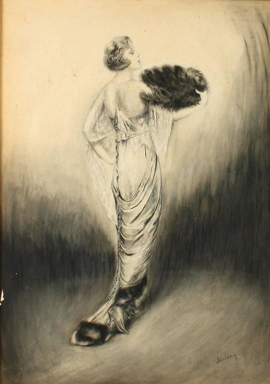 Edwardian Fashion Queen - Art Nouveau Painting by Charles Sheldon