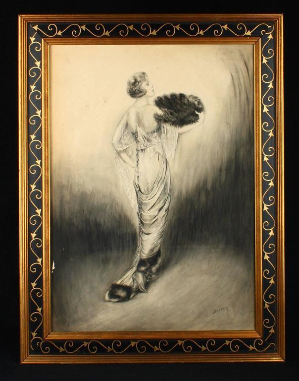 Charles Sheldon Figurative Painting - Edwardian Fashion Queen