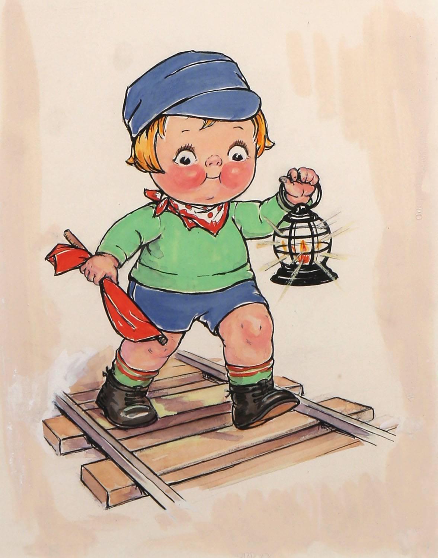 Campbell's Soup Kid Railroad Scene