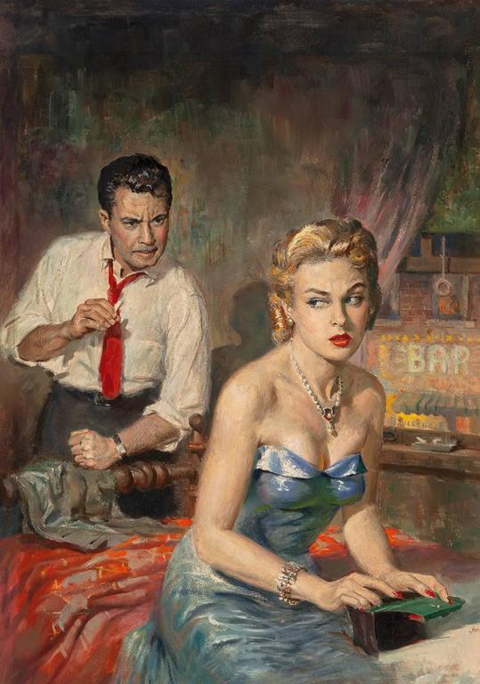 Harry Barton Figurative Painting - Mambo to Murder