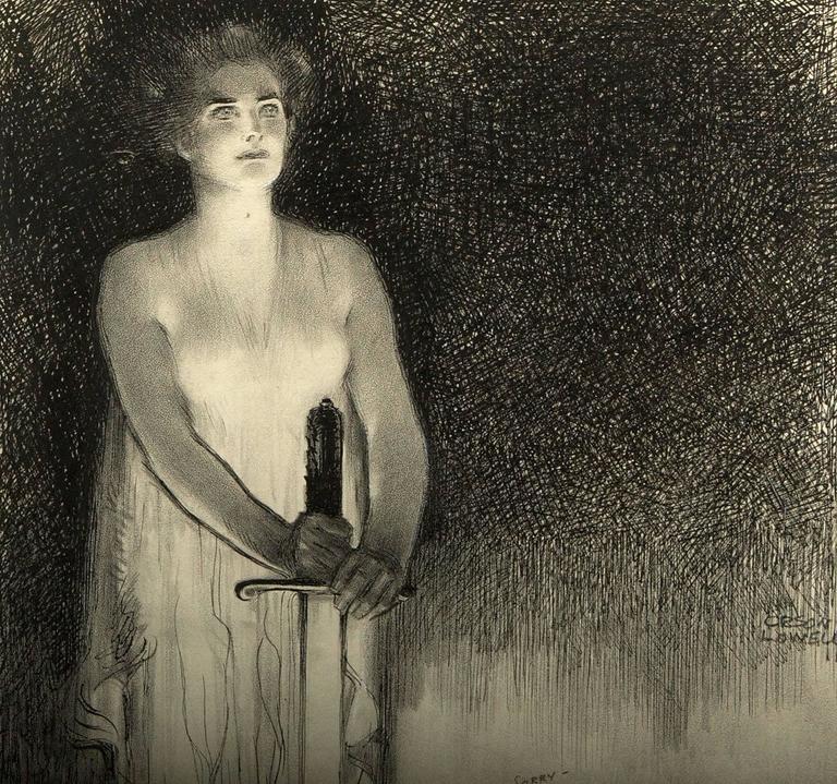 The Spoils of War - Art Nouveau Art by Orson Lowell
