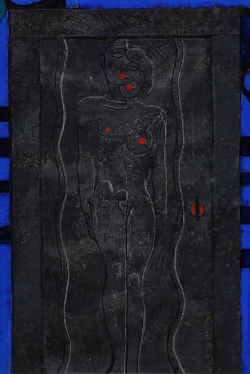 The Passage - Black Figurative Painting by Mahlon Blaine