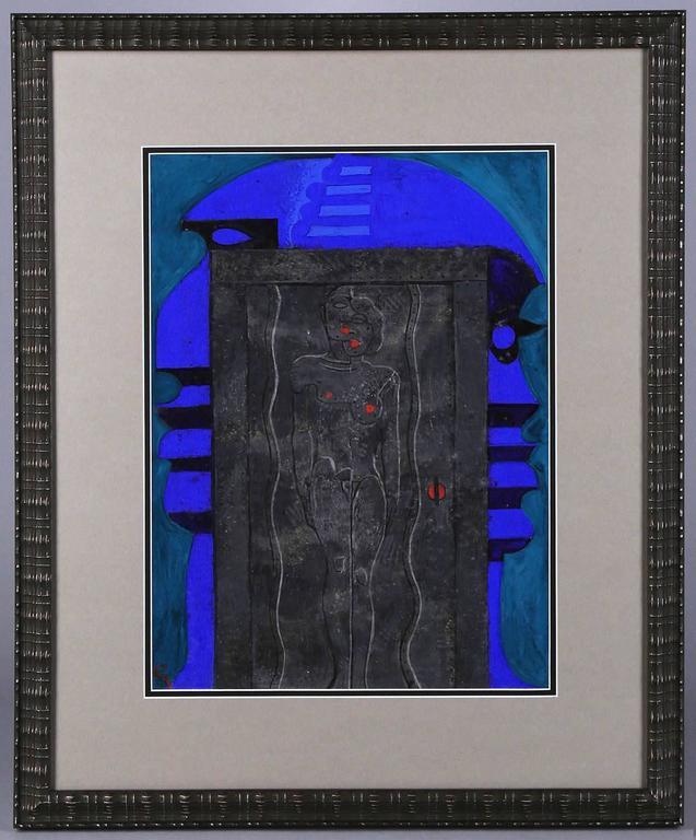 The Passage - Futurist Painting by Mahlon Blaine