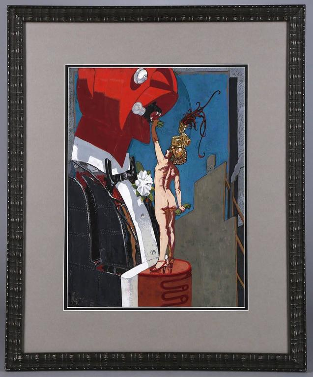 Feeding The Man - Black Nude Painting by Mahlon Blaine