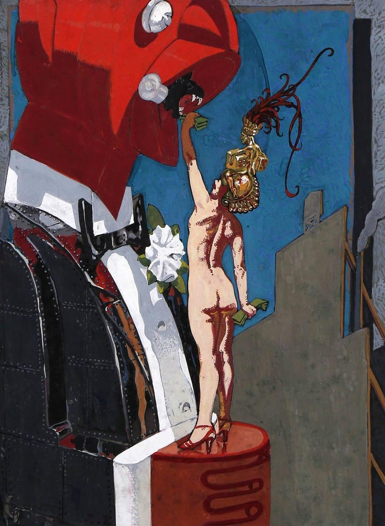 Mahlon Blaine Nude Painting - Feeding The Man