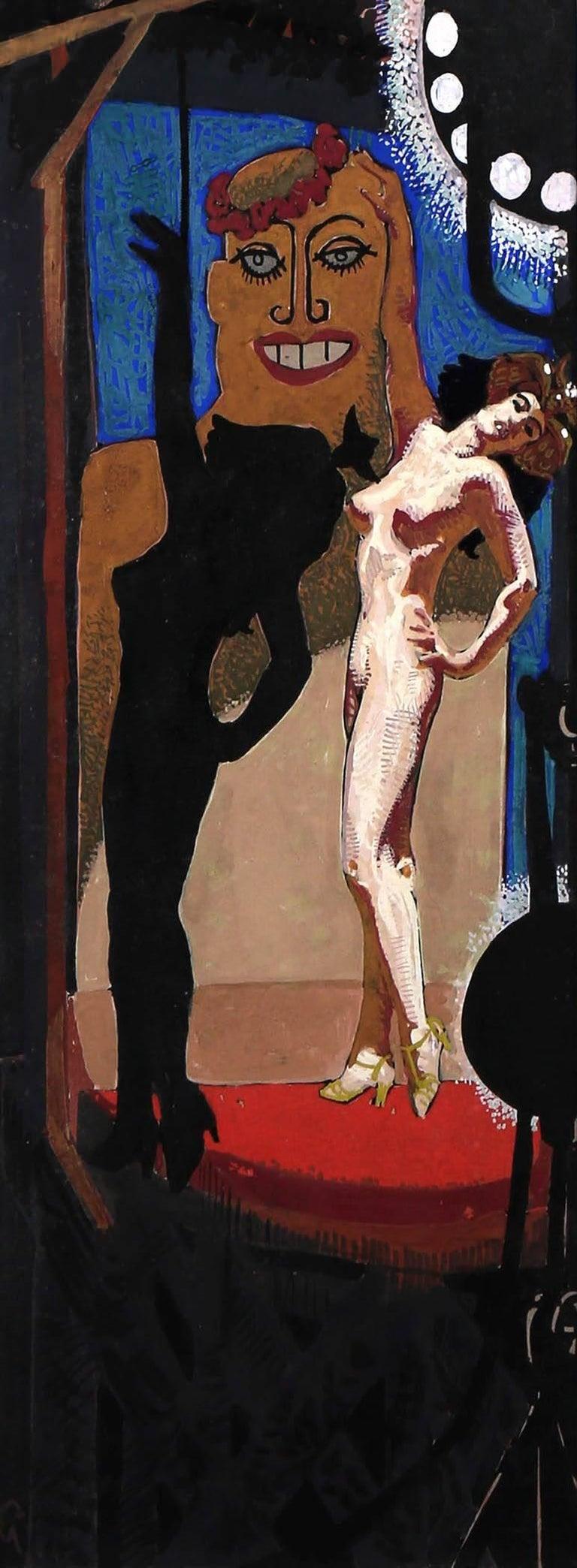 Mahlon Blaine Figurative Painting - The Sad Burlesque
