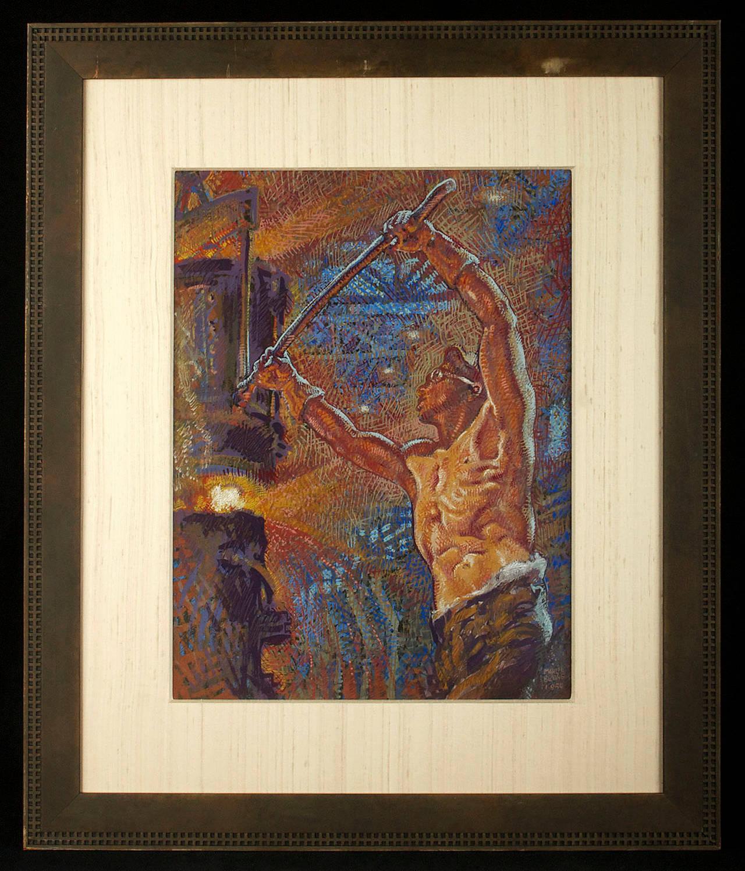 Forging Ahead - Painting by Mahlon Blaine
