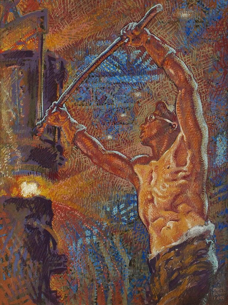 Mahlon Blaine Figurative Painting - Forging Ahead