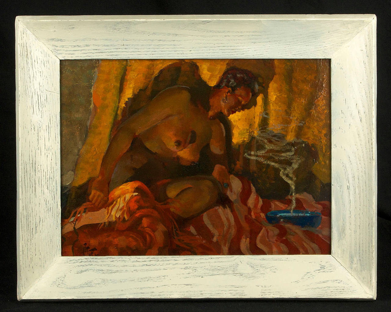 Nude Contemplation - Painting by Harry T. Fisk