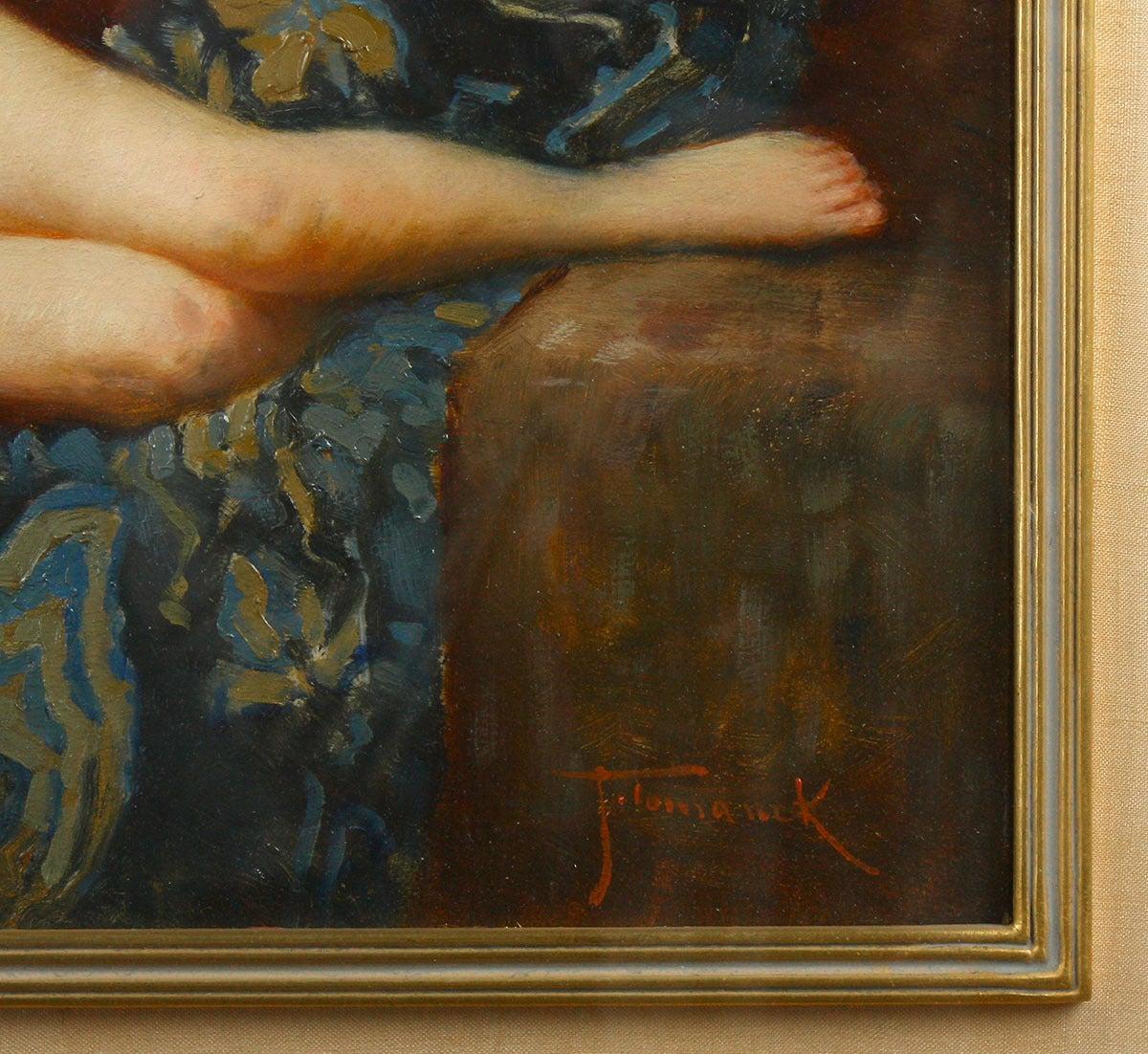 The Studio Couch - Art Nouveau Painting by Joseph Tomanek