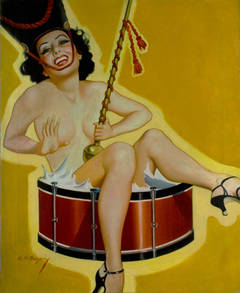 Spicy Pulp Majorette Pin Up Girl