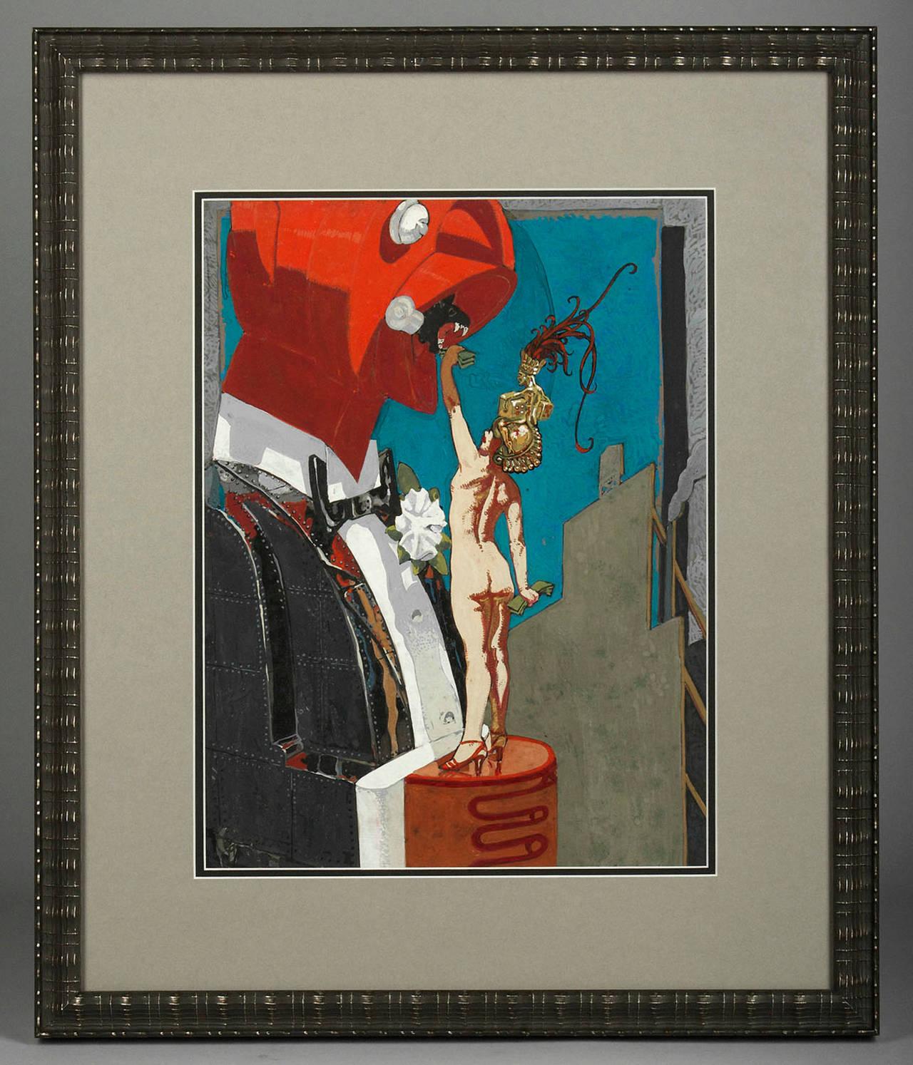 Feeding the Man - Painting by Mahlon Blaine
