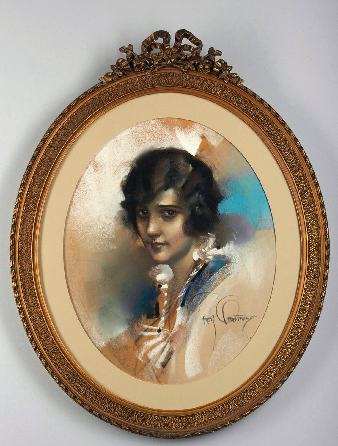 Rolf Armstrong Portrait - A Brown Eyed Girl