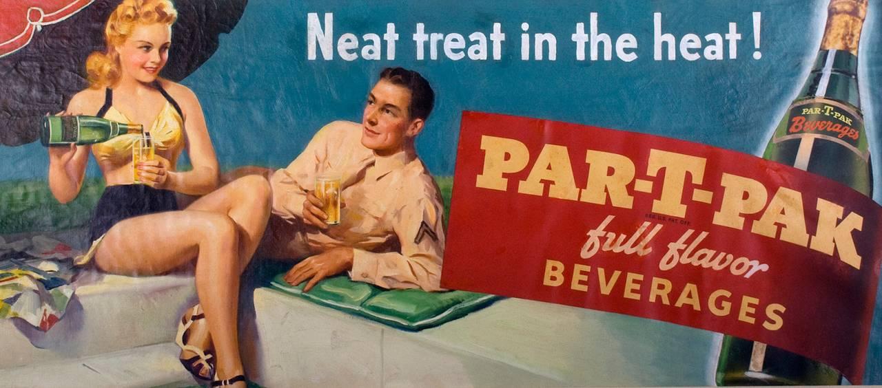 Frederick Sands Brunner Figurative Painting - Nehi Soda Par-T-Pak