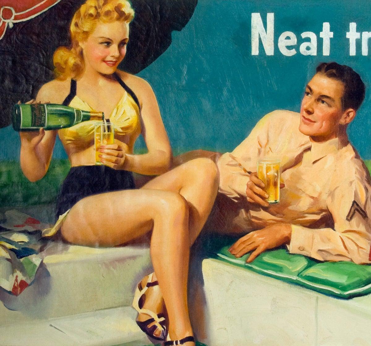 Nehi Soda Par-T-Pak - American Realist Painting by Frederick Sands Brunner
