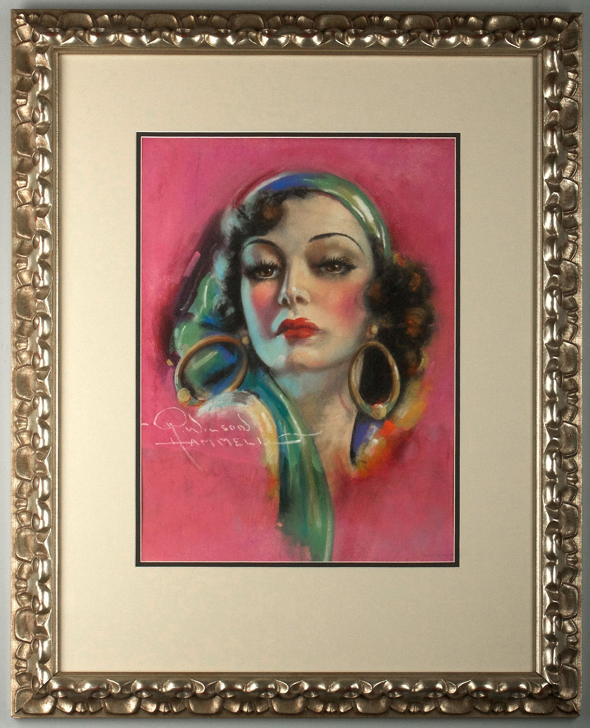 Joan Crawford - Art Deco Painting by Raymond Wilson Hammell