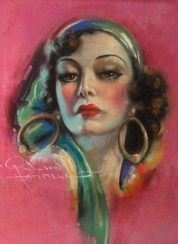 Raymond Wilson Hammell Portrait Painting - Joan Crawford