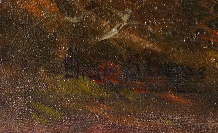 Fall Landscape  - Painting by Elmer Berge