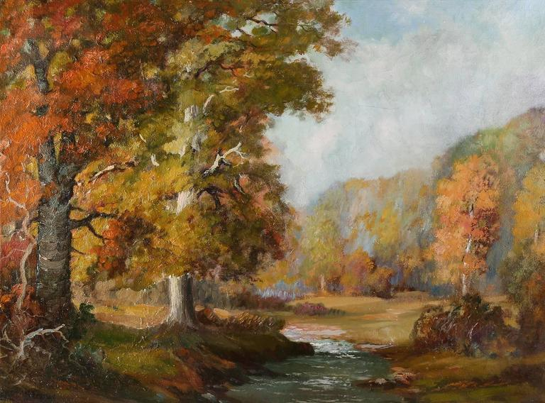 Fall Landscape  - American Impressionist Painting by Elmer Berge
