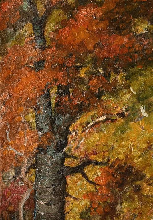 Fall Landscape  - Brown Landscape Painting by Elmer Berge