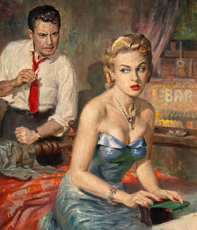Mambo to Murder - Art Deco Painting by Harry Barton