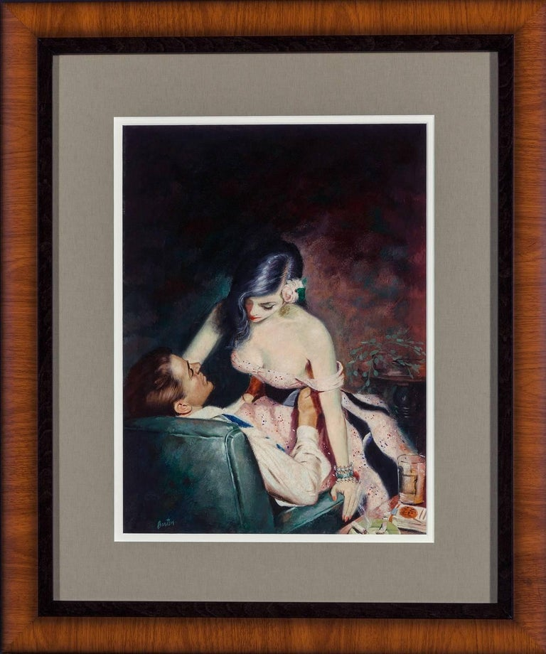 Tender Hearted Harlot - Black Figurative Painting by Harry Barton