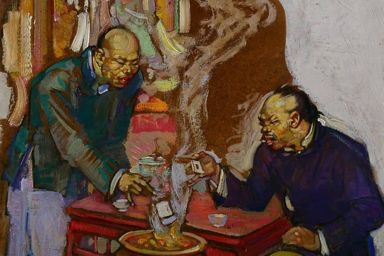 Joss Paper Company - Art Deco Painting by Henry Soulen