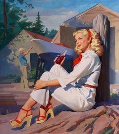 Carefree Summer - Grapette Soda Girl