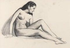 Nude Figure Study Sketch
