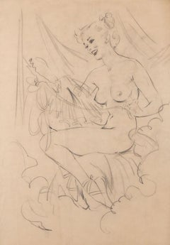 Art Deco Nude Drawings and Watercolors