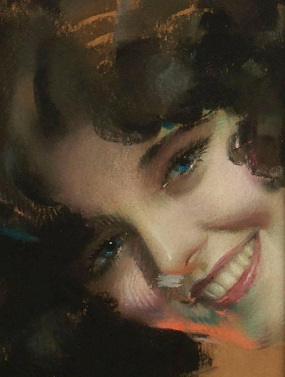 A Blue Eyed Beauty - Painting by Rolf Armstrong