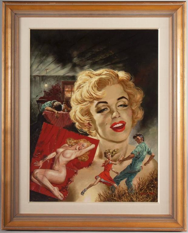 True Strange Marilyn Monroe - Painting by Tom Beecham