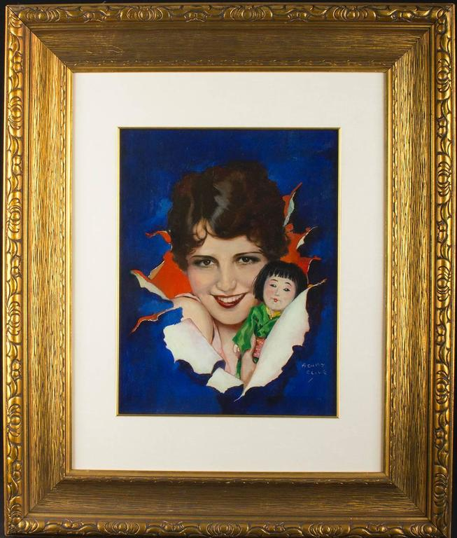 Portrait of Silent Film Star Mary Brian - Painting by Henry Clive