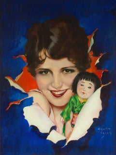 Portrait of Silent Film Star Sue Carol with Boudoir Doll