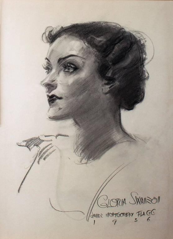James Montgomery Flagg   Gloria Swanson For Sale at 1stdibs