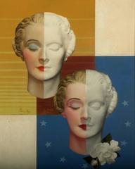 A Pair of Art Deco Heads