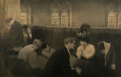 Victorian Mourning Interior Scene