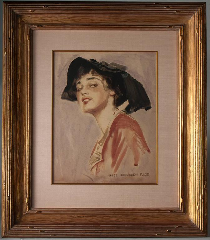 An Edwardian Beauty - Art Nouveau Art by James Montgomery Flagg
