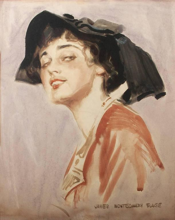 James Montgomery Flagg Portrait - An Edwardian Beauty