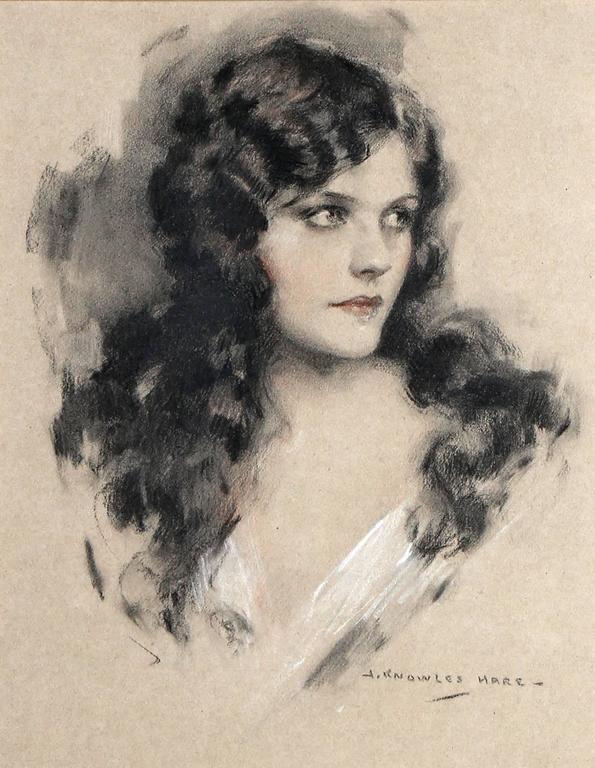 Naomi Johnson Ziegfeld Follies Portrait - Art Deco Art by John Knowles Hare
